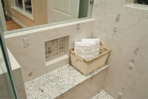 white granite shower seat decoist