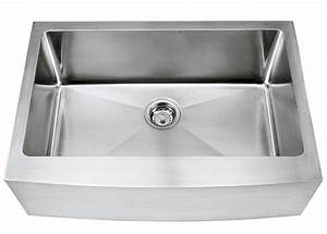 30quot stainless steel curved front apron sink 15mm radius With 27 apron front sink