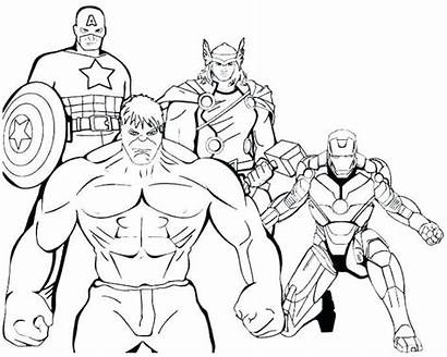 Marvel Coloring Pages Superhero Avengers Super Hero