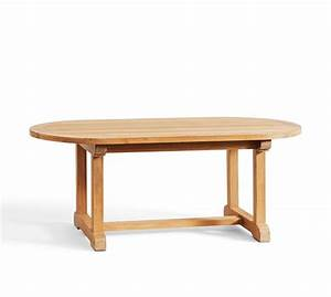 Larkspur teak oval coffee table pottery barn for Oval teak coffee table