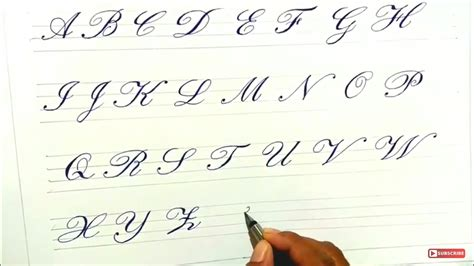 Cursive Calligraphy Writing For Beginners Learn Step By Step Youtube