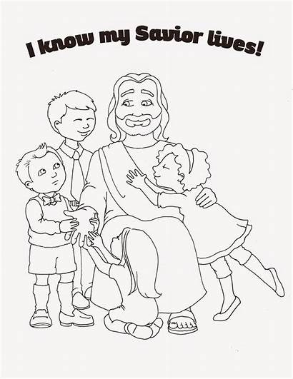 Primary Coloring Lds Savior Lives Know Susanfitchdesign