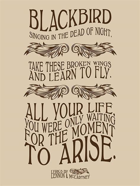 lyrics  lennon mccartney blackbird canvas print