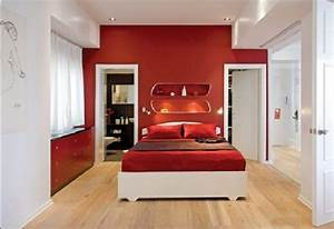 Modern, And, Luxury, Red, Bedroom, Design, Decorating