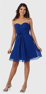 short royal blue bridesmaid dresses naf dresses With short blue wedding dress