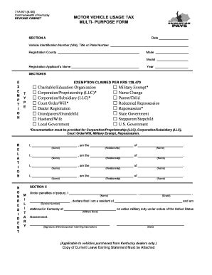 ky revenue cabinet forms ky form 71a101 fill printable fillable blank