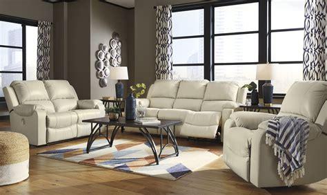 rackingburg  pieces recliner power sofa set  cream