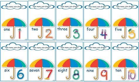 Counting Raindrops Printable Maths Games And Activities (standard Print)  Learning 4 Kids