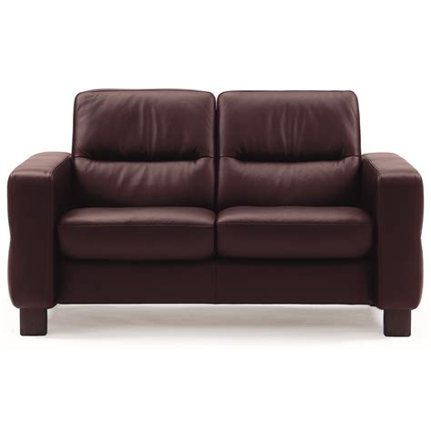 Low Back Reclining Sofa by Stressless Wave Low Back Reclining Loveseat Sprintz