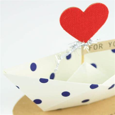 Origami Boat Decoration by Happy Birthday Origami Boat Greeting Decoration By Nest