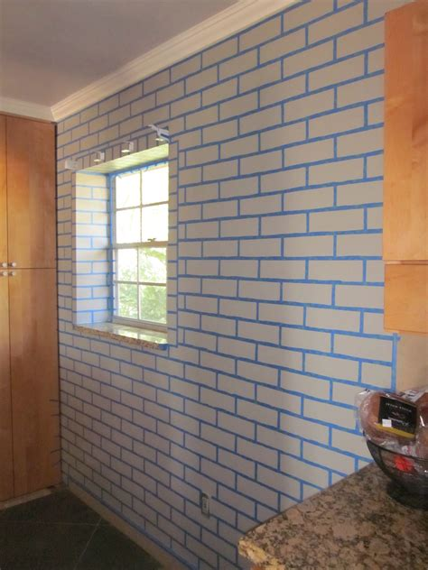 how to paint bricks on a wall realistic faux brick wall with paint master of none