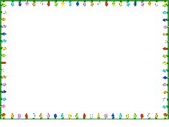 animated christmas lights border