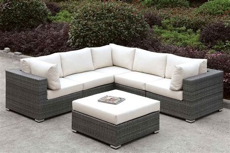 Outdoor L somani outdoor l shaped sectional set configuration 12
