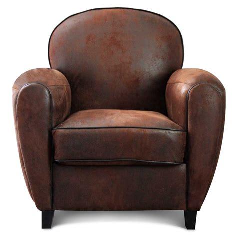 chaise pour chambre à coucher fauteuil microfibre marron vintage havane