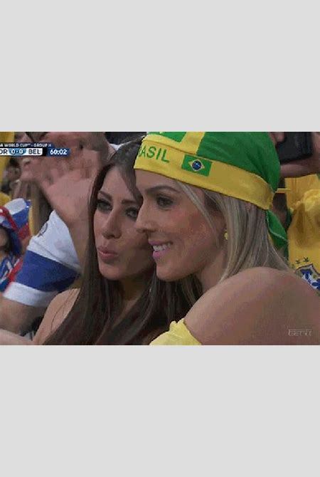Hot Chick Selfie Turns Into Awesome World Cup GIF | Total Pro Sports