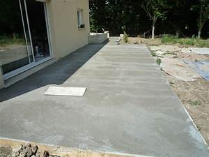 Beton Fliesen Terrasse : terrasse beton maison nos conseils ~ Michelbontemps.com Haus und Dekorationen