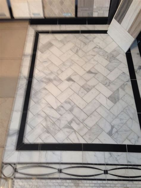 marble tile floor with black border tile floors