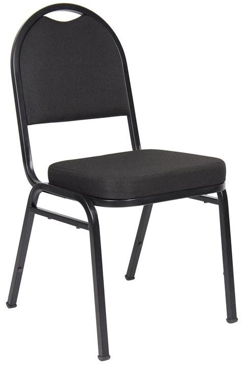 Boss Black Banquet Stacking Chair   Office Chair
