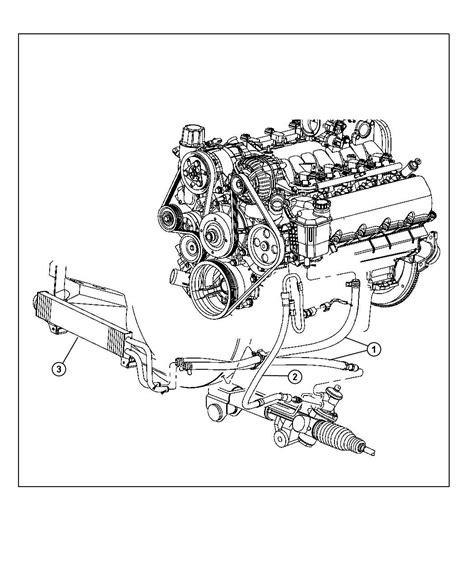 Dodge Ram Power Steering Diagram by 2009 Dodge Ram 1500 Hose Power Steering Pressure Hoses