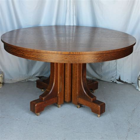 54 dining table with leaf bargain s antiques 187 archive mission style 8992