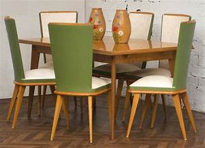 Ensemble salla a manger vintage table 1950 chaises 1950 for Salle a manger 1950