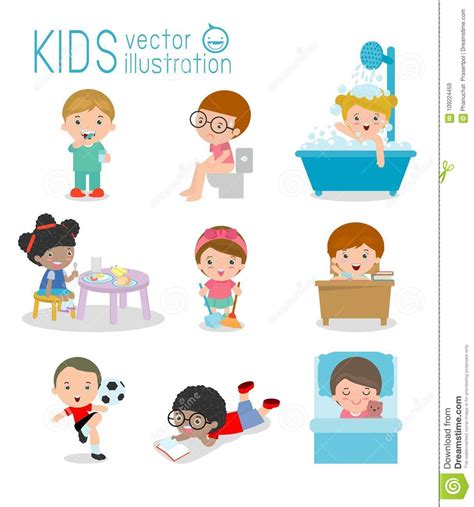 daily routine daily routine  happy kids health