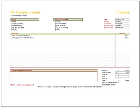garage door repair invoice template dandk organizer