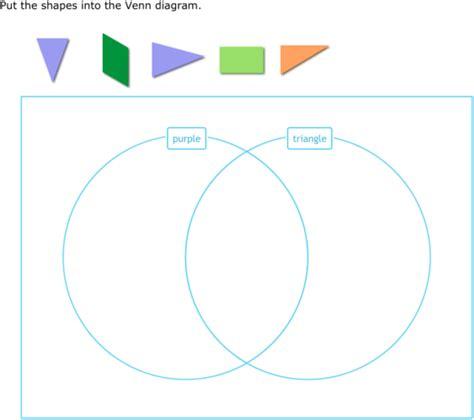 ixl sort shapes into a venn diagram 3rd grade math