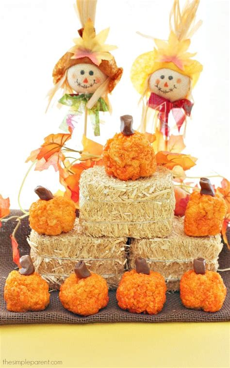 rice krispies pumpkin treats