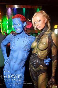 Mystique Cosplay Body Paint