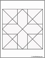Geometric Coloring Pages Cross Diamond Quilt Arrows Squares Customize Detailed Colorwithfuzzy sketch template
