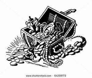 Treasure Chest Black And White Clipart - Clipart Suggest