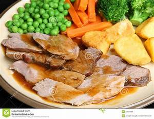 Sunday Roast Lamb Dinner Stock Photos - Image: 33623663