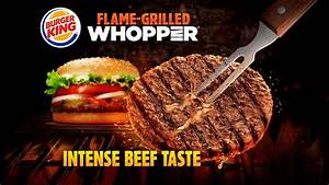 Burger King Flame-Grilled Whopper: Intense Beef Taste ...