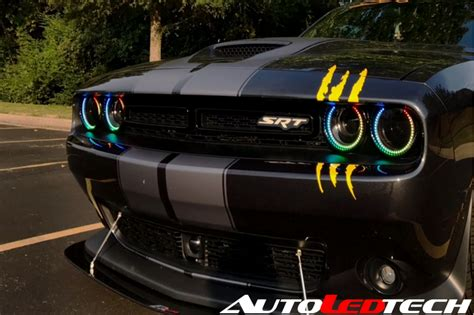 led exterior lighting 2015 2018 dodge challenger waterproof color chasing