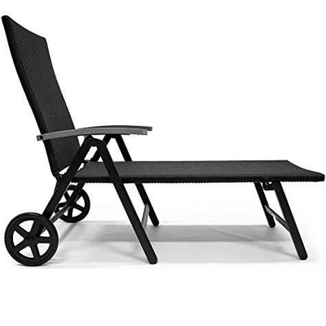 chaise longue pliable transat chaise longue en aluminium sur 2 roues 7