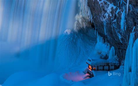 Canada Ontario Niagara Falls In Winter Bing Desktop Wallpaper Preview