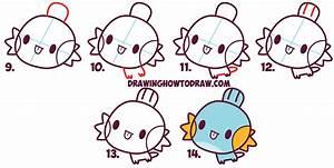 How to Draw MudKip from Pokemon (Cute / Chibi / Kawaii ...