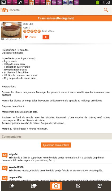 cuisiner blettes marmiton marmiton recettes gourmandes applications android sur play