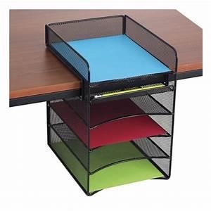 Scranton, U0026, Co, Horizontal, Hanging, Desk, Organizer, In, Black