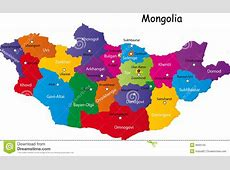 Map of Mongolia stock vector Illustration of illustration