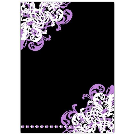 black violet ornamental corner gatefold birthday