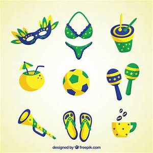 Brazilian carnival elemenrs Vector | Free Download