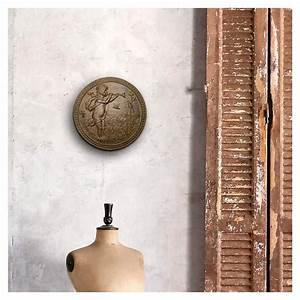 Plaque Décorative Murale : plaque d corative murale en fonte de fer le ch rubin la chasse ~ Preciouscoupons.com Idées de Décoration