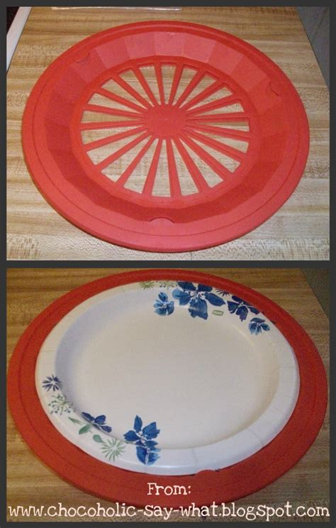 chocoholic   silly saturday find plastic paper plate holder