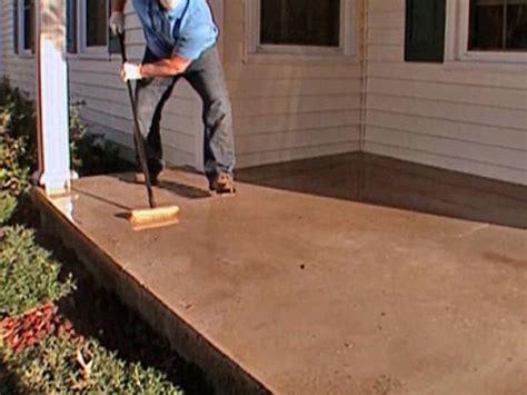 stamp  concrete porch floor  tos diy