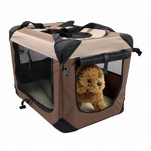 portable folding pet carrier dog cat crate cage soft With dog carry kennels