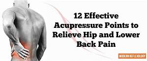 Acupressure Technique Can Be Used Effectively To Relieve Hip And Back Pain Caused By Muscle