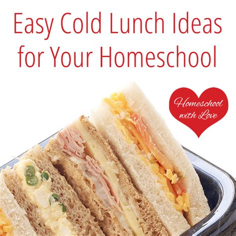 Easy Cold Lunch Ideas For Your Homeschool