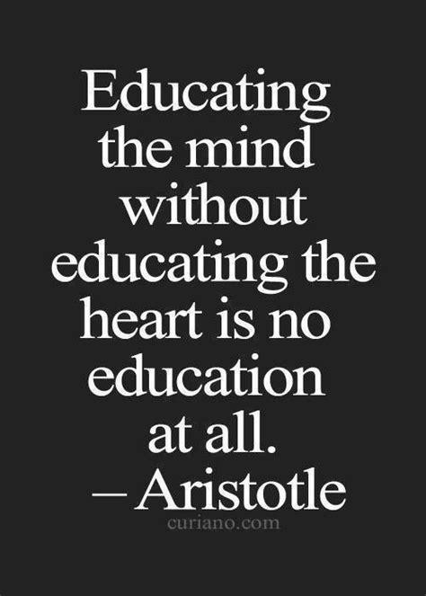 aristotle educating  mind  educating  heart
